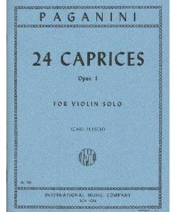 Paganini, Niccolo - 24 Caprices, Op. 1 - Violin solo - edited by Carl Flesch - by International